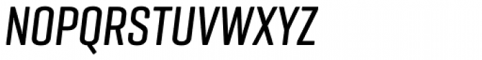 Geogrotesque Comp Medium Italic Font UPPERCASE
