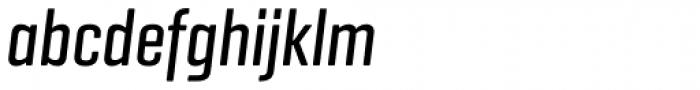 Geogrotesque Comp Medium Italic Font LOWERCASE