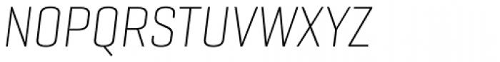Geogrotesque Cond Ultra Light Italic Font UPPERCASE