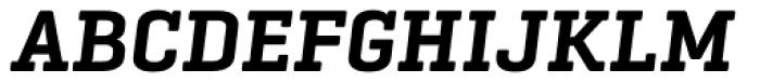 Geogrotesque Slab Semi Bold Italic Font UPPERCASE