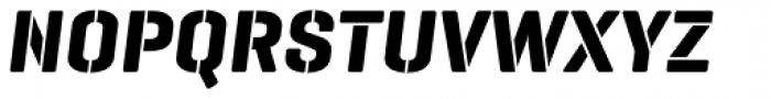 Geogrotesque Stencil B Bold Italic Font UPPERCASE