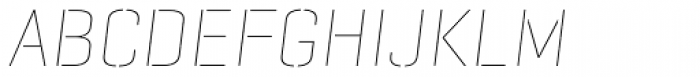 Geogrotesque Stencil C Thin Italic Font UPPERCASE