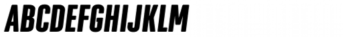 Geogrotesque XComp Bold Italic Font UPPERCASE