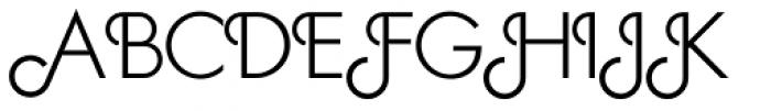 Geometa Deco Light Font UPPERCASE