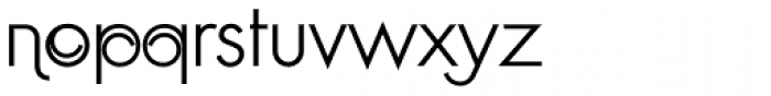 Geometa Deco Light Font LOWERCASE