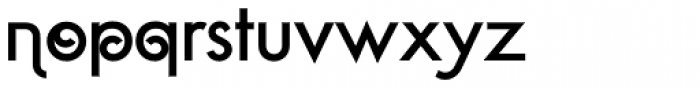 Geometa Deco Font LOWERCASE
