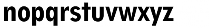 Geometric 212 Heavy Condensed Font LOWERCASE