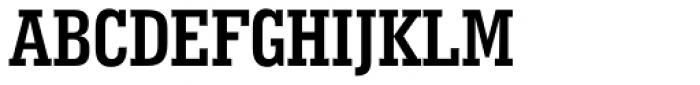 Geometric Slabserif 703 Bold Condensed Font UPPERCASE