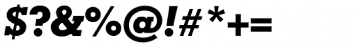 Geometric Slabserif 703 ExtraBold Italic Font OTHER CHARS