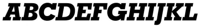 Geometric Slabserif 703 ExtraBold Italic Font UPPERCASE