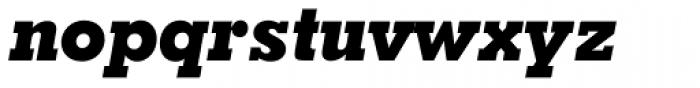 Geometric Slabserif 703 ExtraBold Italic Font LOWERCASE