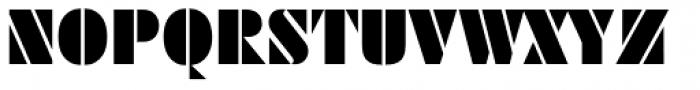 Geometric Stencil AI Regular Font UPPERCASE
