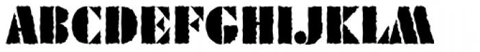 Geometric Stencil EF Rough Font UPPERCASE