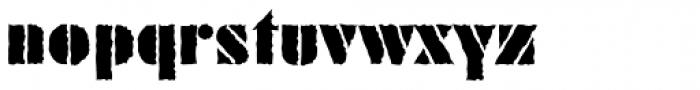 Geometric Stencil EF Rough Font LOWERCASE
