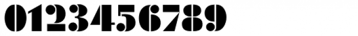 Geometric Stencil EF Font OTHER CHARS
