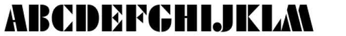 Geometric Stencil EF Font UPPERCASE