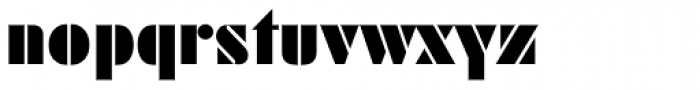 Geometric Stencil EF Font LOWERCASE