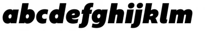 Geometrica Extra Black Italic Font LOWERCASE