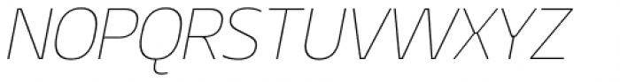 Geon Thin Italic Font UPPERCASE