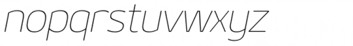 Geon Thin Italic Font LOWERCASE