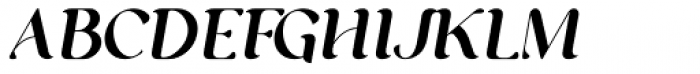 George Italic Font UPPERCASE