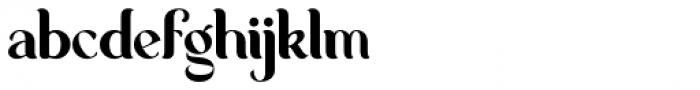 George Regular Font LOWERCASE