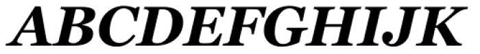 Georgia Bold Italic Font UPPERCASE