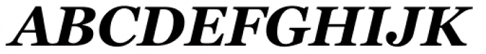 Georgia Pro Bold Italic Font UPPERCASE