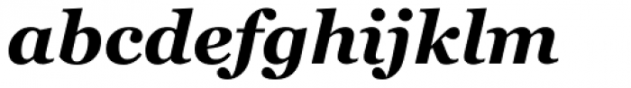 Georgia Pro Bold Italic Font LOWERCASE