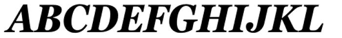 Georgia Pro Condensed Bold Italic Font UPPERCASE