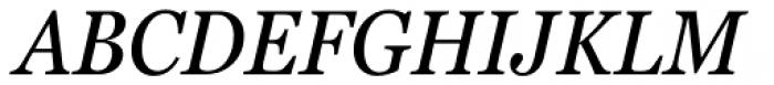 Georgia Pro Condensed Italic Font UPPERCASE