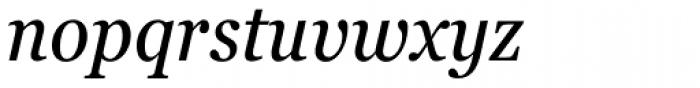 Georgia Pro Condensed Italic Font LOWERCASE