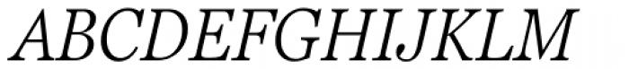 Georgia Pro Condensed Light Italic Font UPPERCASE