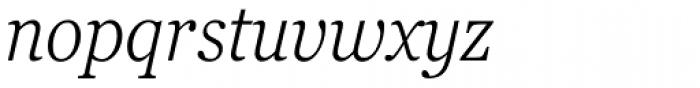 Georgia Pro Condensed Light Italic Font LOWERCASE