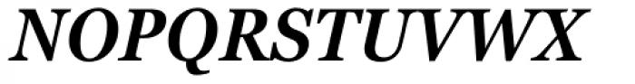 Georgia Pro Condensed SemiBold Italic Font UPPERCASE