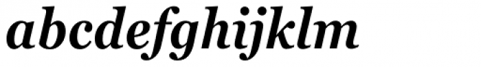 Georgia Pro Condensed SemiBold Italic Font LOWERCASE