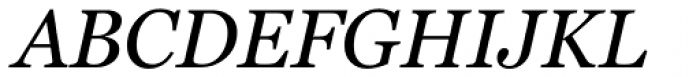 Georgia Pro Italic Font UPPERCASE