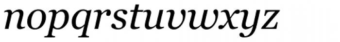 Georgia Pro Italic Font LOWERCASE