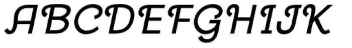 Georgie DemiBold Oblique Font UPPERCASE