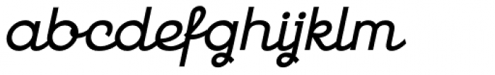 Georgie DemiBold Oblique Font LOWERCASE