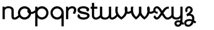 Georgie DemiBold Font LOWERCASE