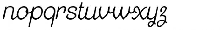 Georgie Light Condensed Oblique Font LOWERCASE