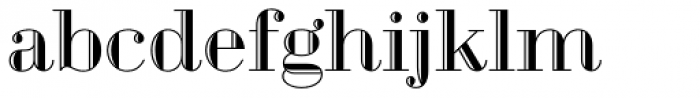 Geotica Three Engraved Font LOWERCASE