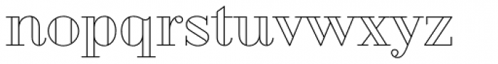 Geotica Three Open Font LOWERCASE