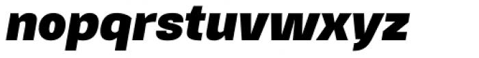 Gerlach Sans Black Italic Font LOWERCASE