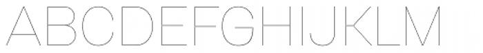 Gerlach Sans Hairline Font UPPERCASE