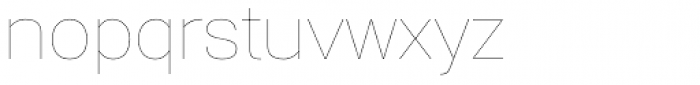 Gerlach Sans Hairline Font LOWERCASE