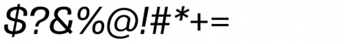 Gerlach Sans Medium Italic Font OTHER CHARS