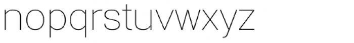 Gerlach Sans Thin Font LOWERCASE