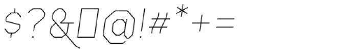 Gerusa UltraLight Italic Font OTHER CHARS